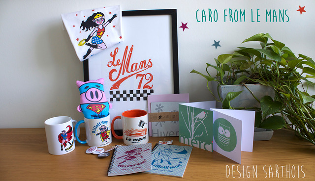 Caro-From-Le-Mans, illustratrice et créatrice de la famille des supers héros des Rillettes