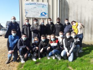 Visite d'élevage de Porc fermier de la Sarthe Label Rouge par les apprentis Bac Pro 1e CGEA du CFA La Germinière