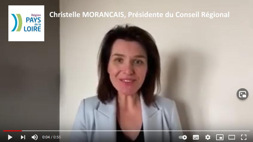 Christelle Morançais, Présidente du Conseil régional des Pays de la Loire
